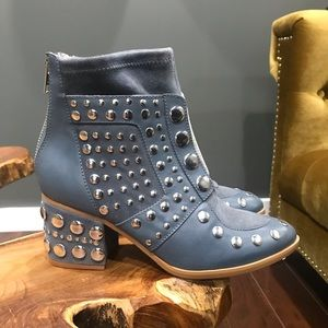 Suede Studded Booties